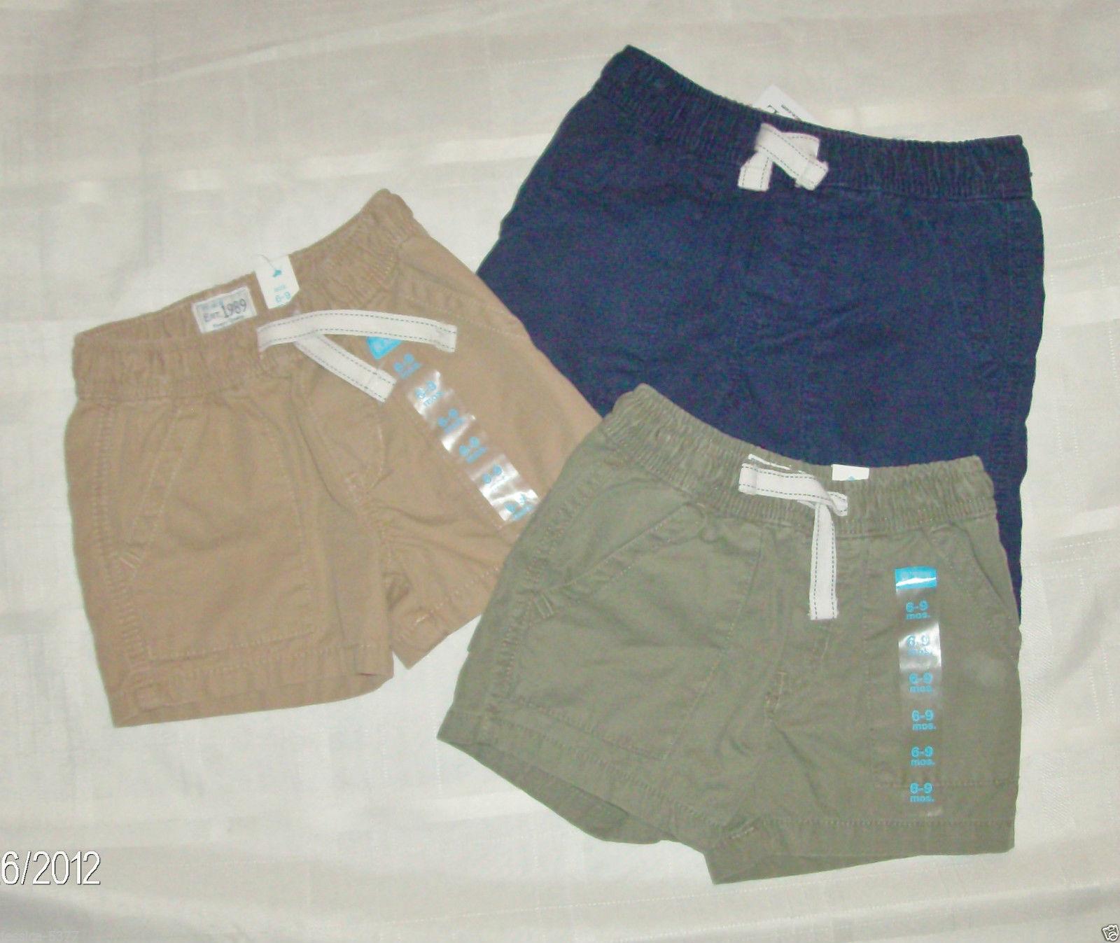 Khaki *NWT* Circo Infant Toddler Shorts 12m 18m 3T Black,Gray,Camo,Blue stripe