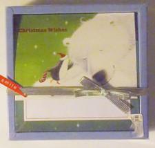 Christmas Cards Box of 16 with  Envelopes Polar Bear and Penguin   NIB - $6.30