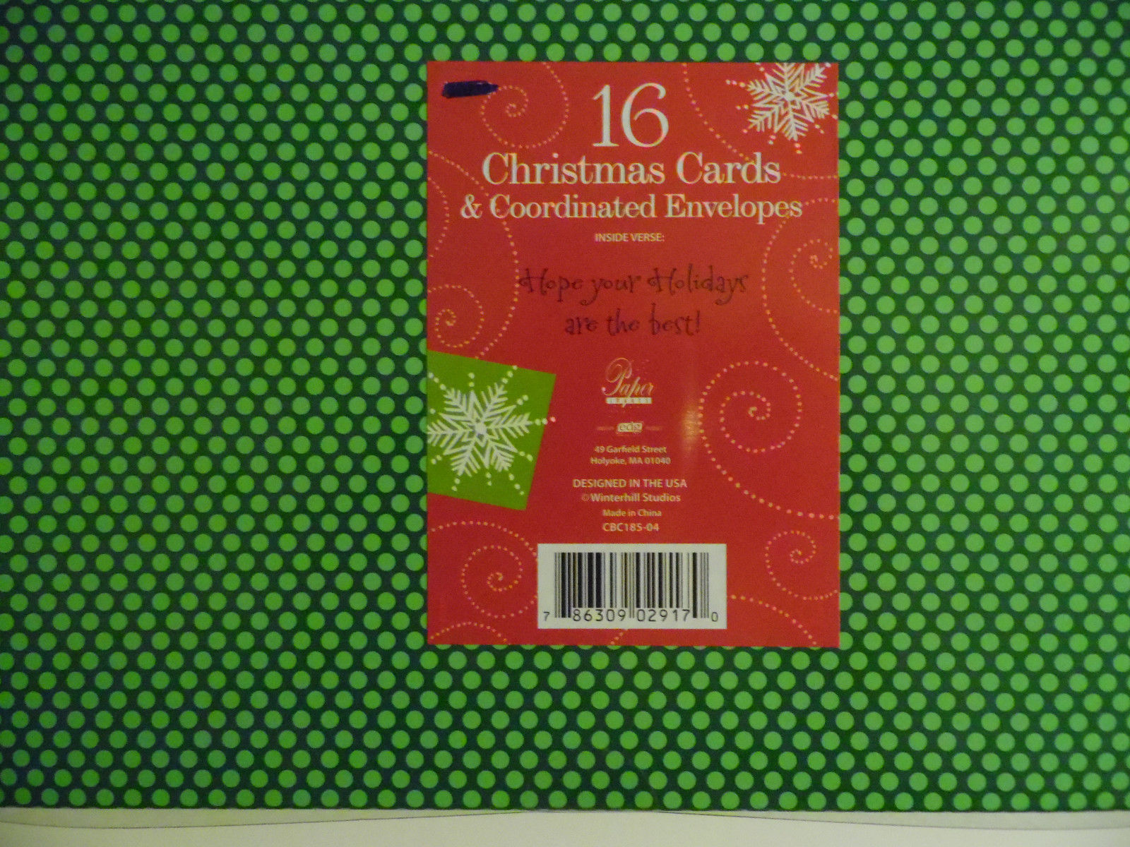 christmas cards box of 16 with  Envelopes  Snowman   NIB