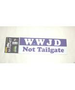 Magnattitudes Car/Refrigerator Magnets WWJD Not Tailgate  NIP - $2.17