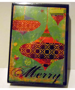 christmas cards box of 16 with  Envelopes  Ornament    NIB - $6.30