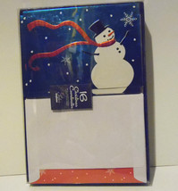 christmas cards box of 16 with  Envelopes  Snow Man    NIB - $6.30
