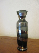 Vintage Studio 70's black/gray with silver glass  bud vase Enesco - $15.83