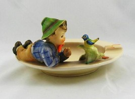 Hummel # 166 TMK 3 Boy with Blue Bird Figurine on Ashtray - $247.45