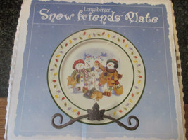 Longaberger Snow Friends Plate 1999 - $16.81