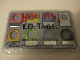 Houdini I D Tags set of 8 Wine Glass Tags - $8.99