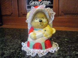 Caring Critter Chimer Mother mouse holding baby Christmas Bell ornament - $6.92