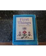 Miniature First Things by Virginia Parsons A Golden Block Book 1982 - $9.89