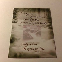 "Forget Me Not American Greetings Card w/ Envelope ""NATURE IS PAINTED FOR... - $5.90"