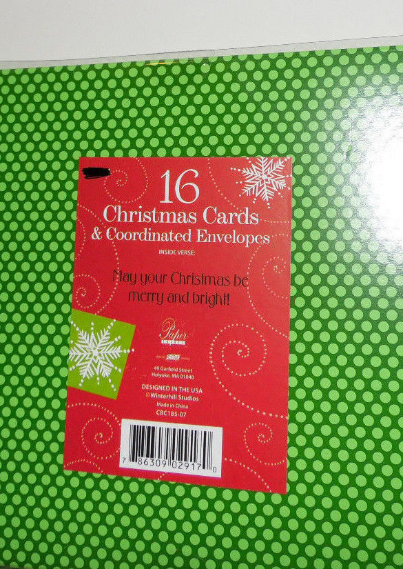 christmas cards box of 16 with  Envelopes    NIB
