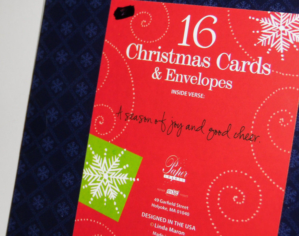christmas cards box of 16 with  Envelopes  Ornament    NIB