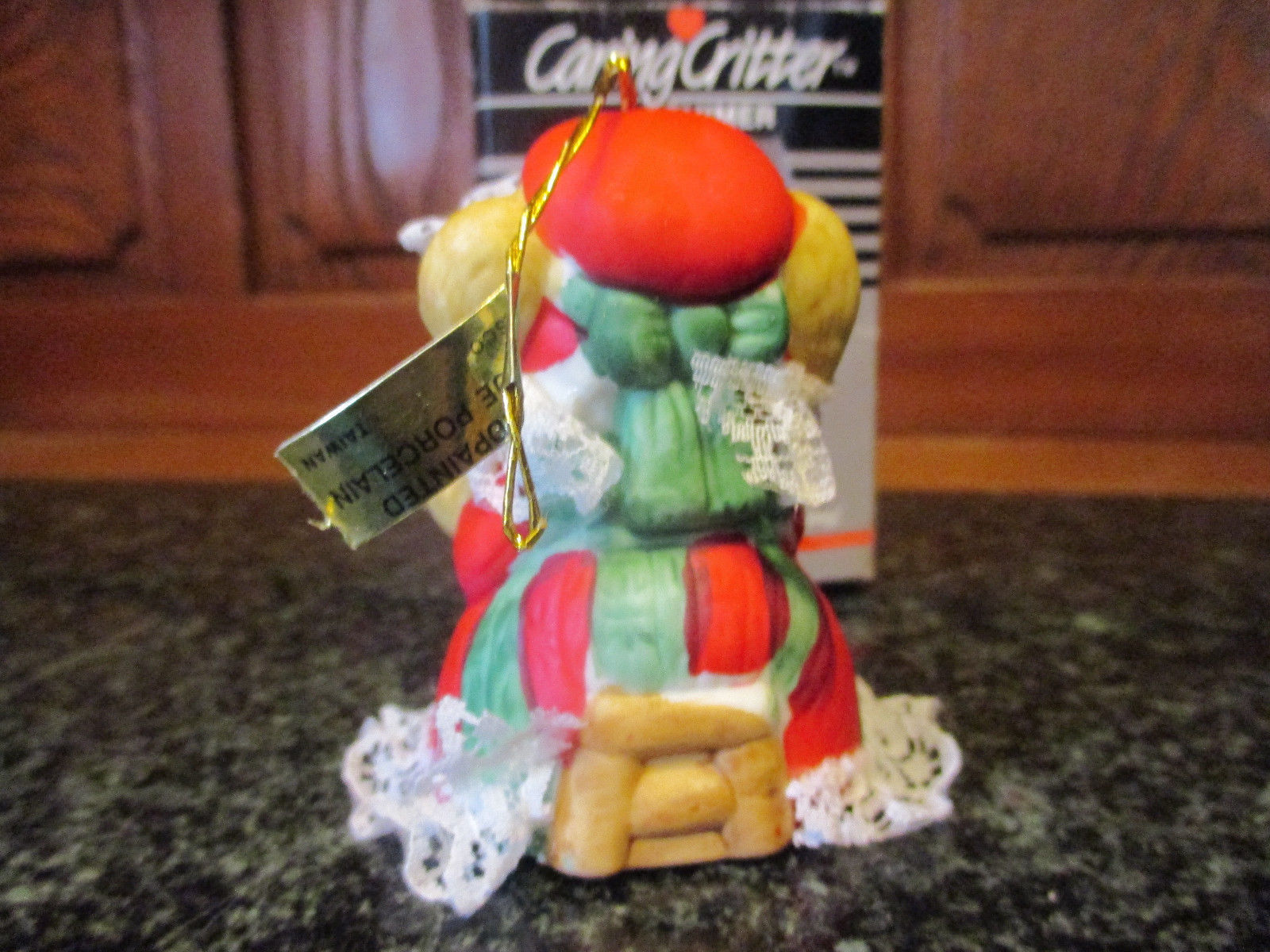 Caring Critter Chimer Mother mouse holding baby Christmas Bell ornament