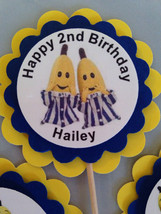 Bananas in pyjamas custom party personalized hard to find party supplies cupcake - $8.99