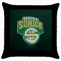 Seattle Super Sonics Throw Throw Pillow Case - ... - $16.44
