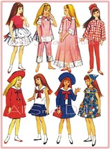 "Vintage Doll Clothing Pattern for 9 1/2"" Skipper No. 1 - $7.99"