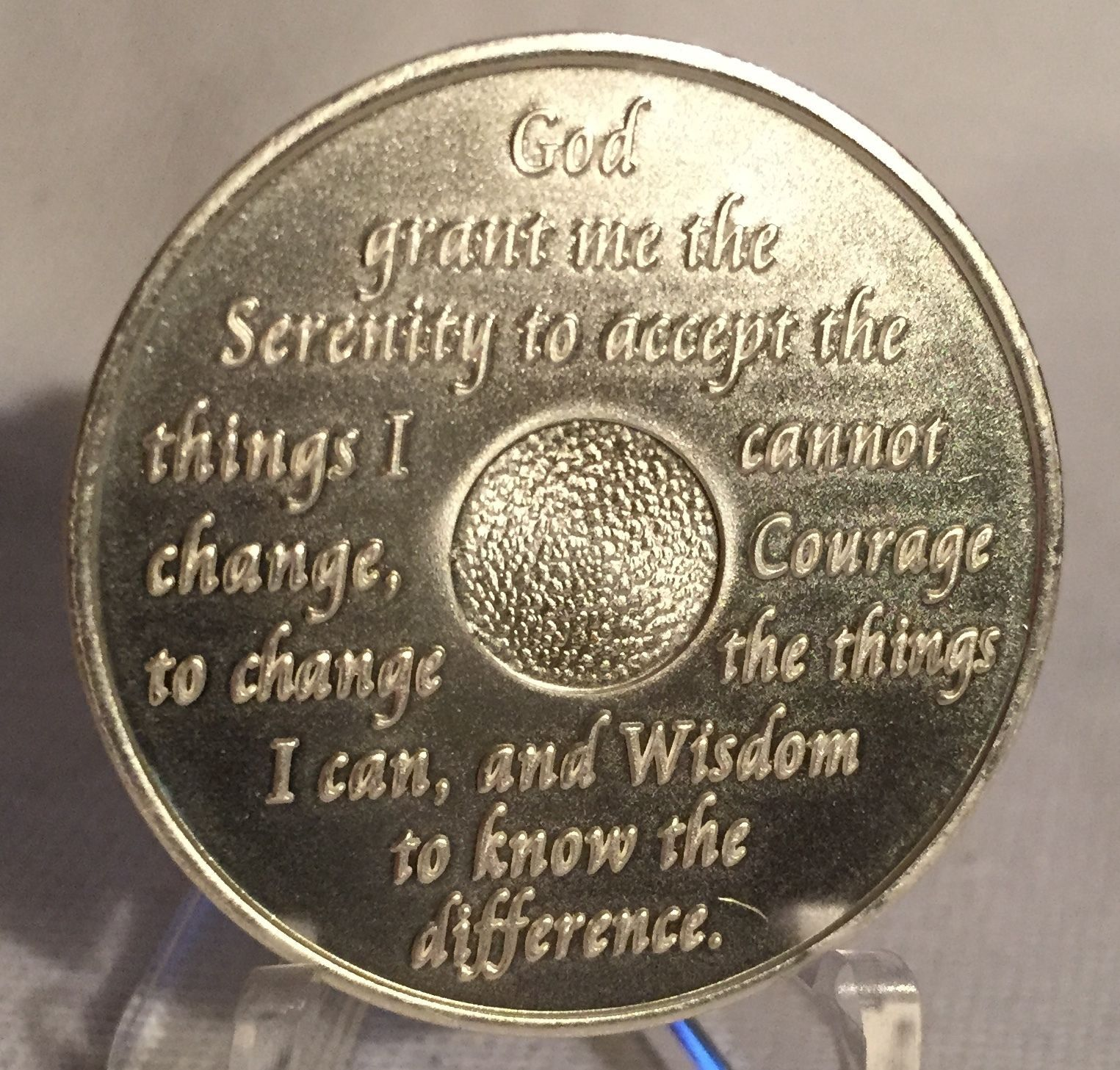 Purple /& Silver Plated 30 Year AA Chip Alcoholics Anonymous Medallion Coin