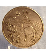 Alcoholics Anonymous Recovery Medal Camel ODAAT Camel Poem Bronze Medallion - £1.16 GBP