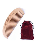 Natural Anti-static Peach Wood Hair Pocket,Handle Comb Message Travel Comb - $9.99