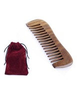 Natural Green Sandal Wood Hair Pocket Comb Message Travel Comb or Lice R... - $7.83+