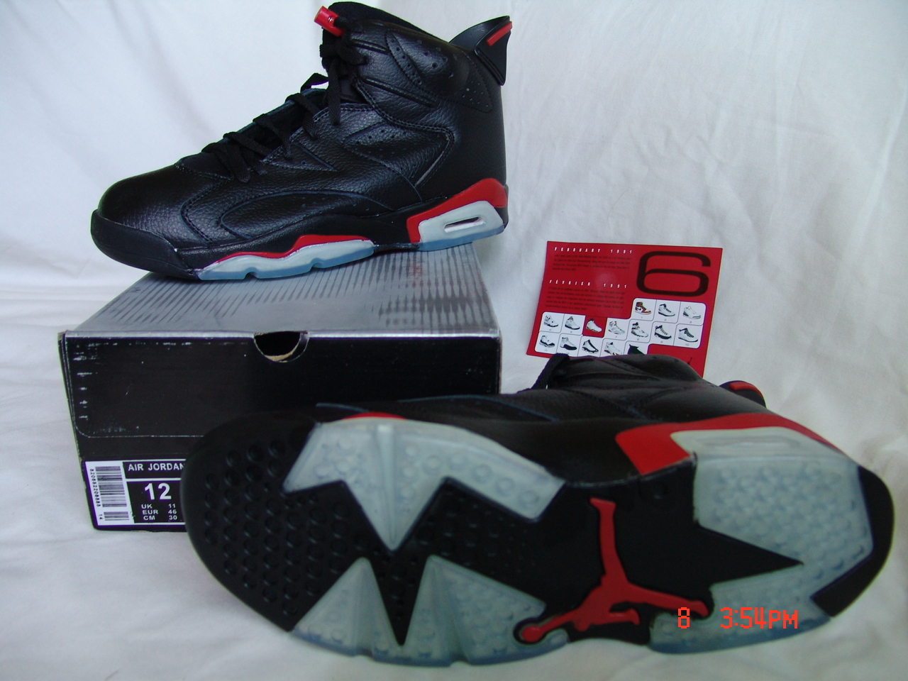 online store 1577f f3f2f Dsc00323. Dsc00323. 2000 Nike Air Jordan VI Retro Black VARSITY Fire Red  Bred White Shoes Size 12