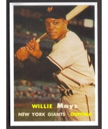 WILLIE MAYS Card RP #10 Giants 1957 T Free Shipping - $2.75
