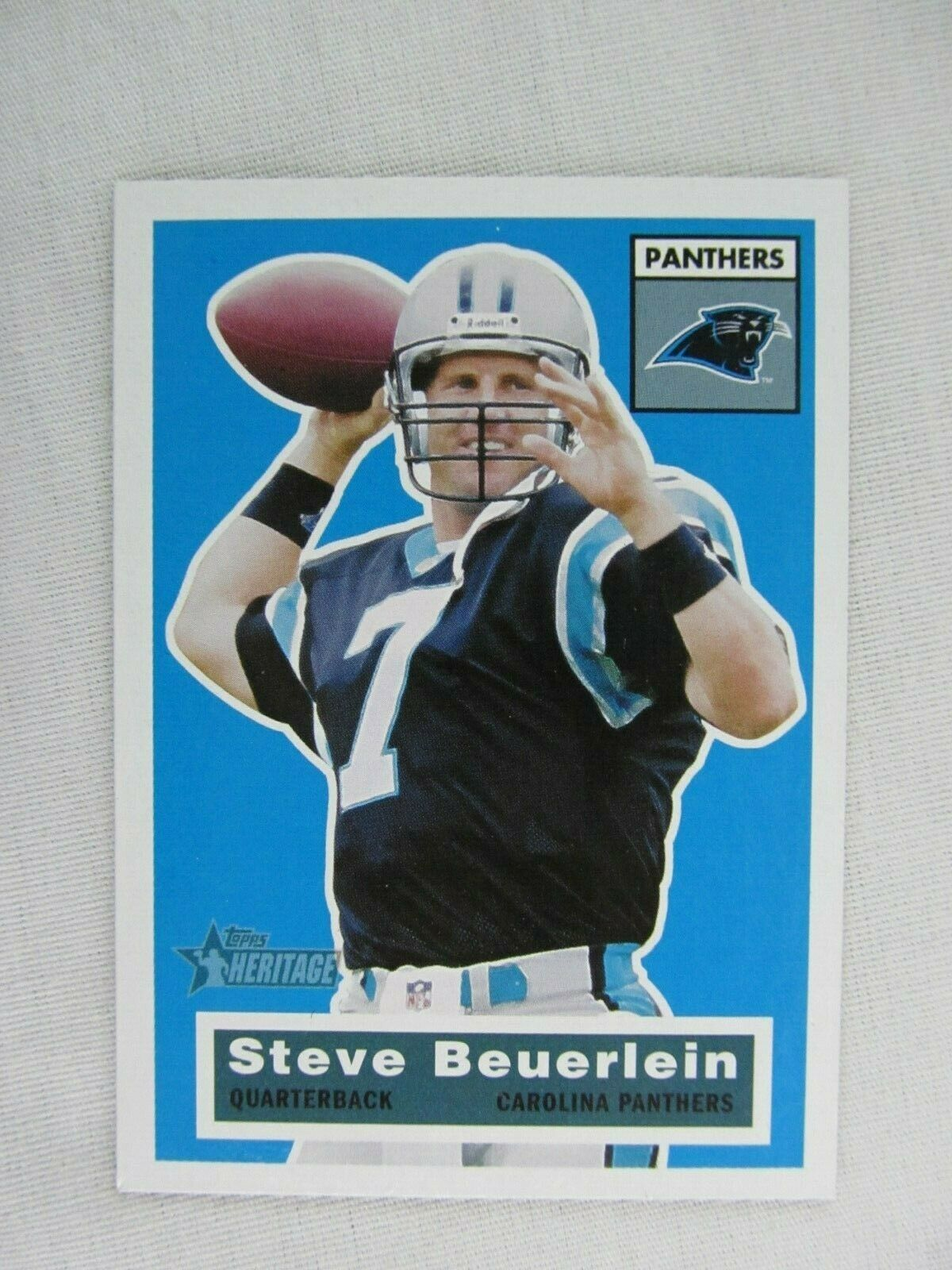 Steve Beuerlein Carolina Panthers 2001 Topps Heritage Football Card 107