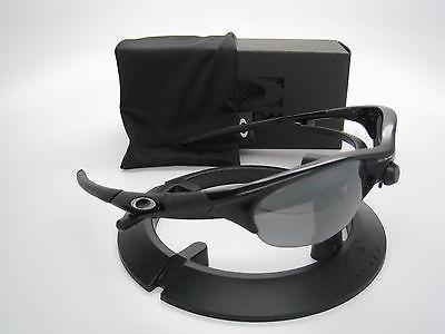 Neuf Oakley Demi Veste Jet Noir avec / Noir Iridium Polarisé 12-800