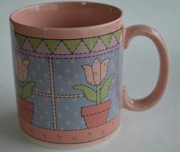 Russ Berrie ~ Pink Tulips ~ Coffee Cup Mug ~ Flowers - $19.95