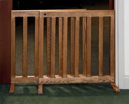Ajustable Freestanding wooden Dog Gate Oak Wood - $219.00