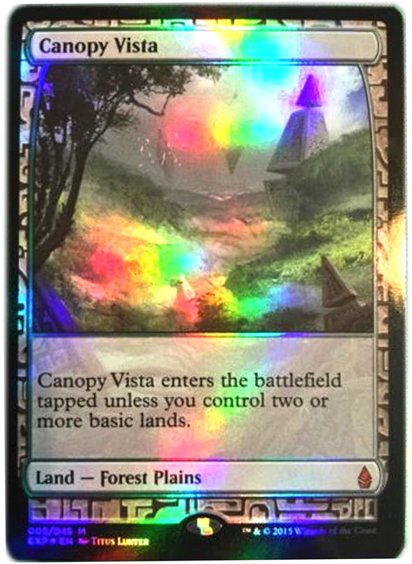 "Magic the Gathering MTG ""Canopy Vista"" Foil Zendikar Mythic Rare Card x1 NM [CB]"