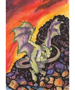 Akimova: DRAGON, fantasy,animal,ACEO - $4.99