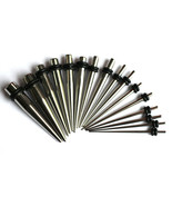20Pc Surgical Steel Tapers expanders plug set pack kit 00g 0g 2g 4g 6g 8... - $18.91