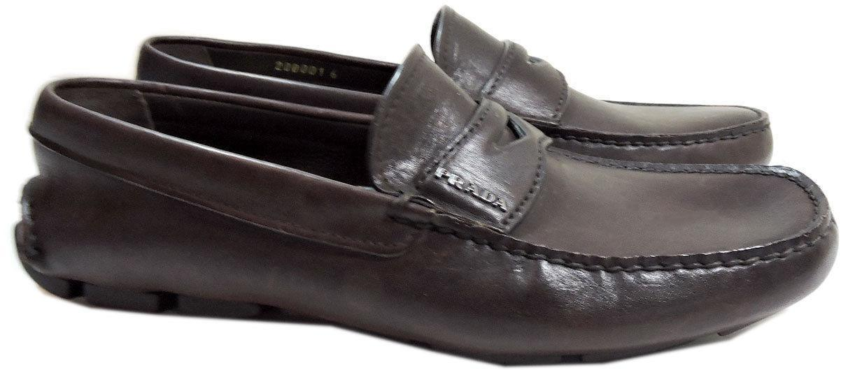 416b749e6726 Prada Brown Leather Moccasin Driving Shoes and 50 similar items
