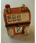 Trinket Box  SLOT MACHINE  Porcelain Hinged Box... - $14.69
