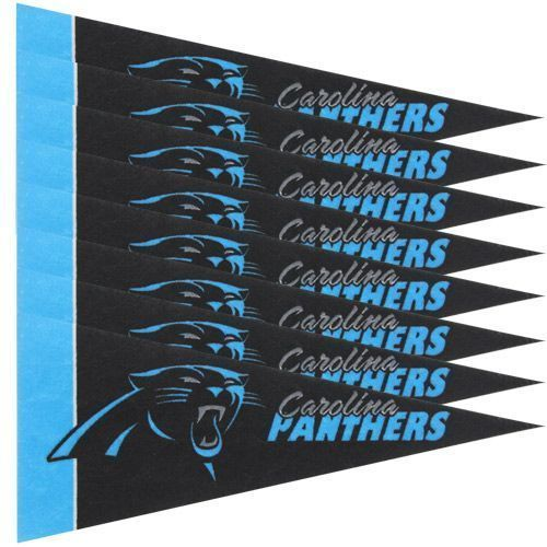 CAROLINA PANTHERS 8 PIECE FELT MINI PENNANTS SET PACK NFL FOOTBALL