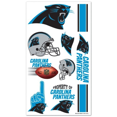 CAROLINA PANTHERS TEMPORARY TATTOOS GAME TAILGATE PARTY FACE BODY NFL FOOTBALL