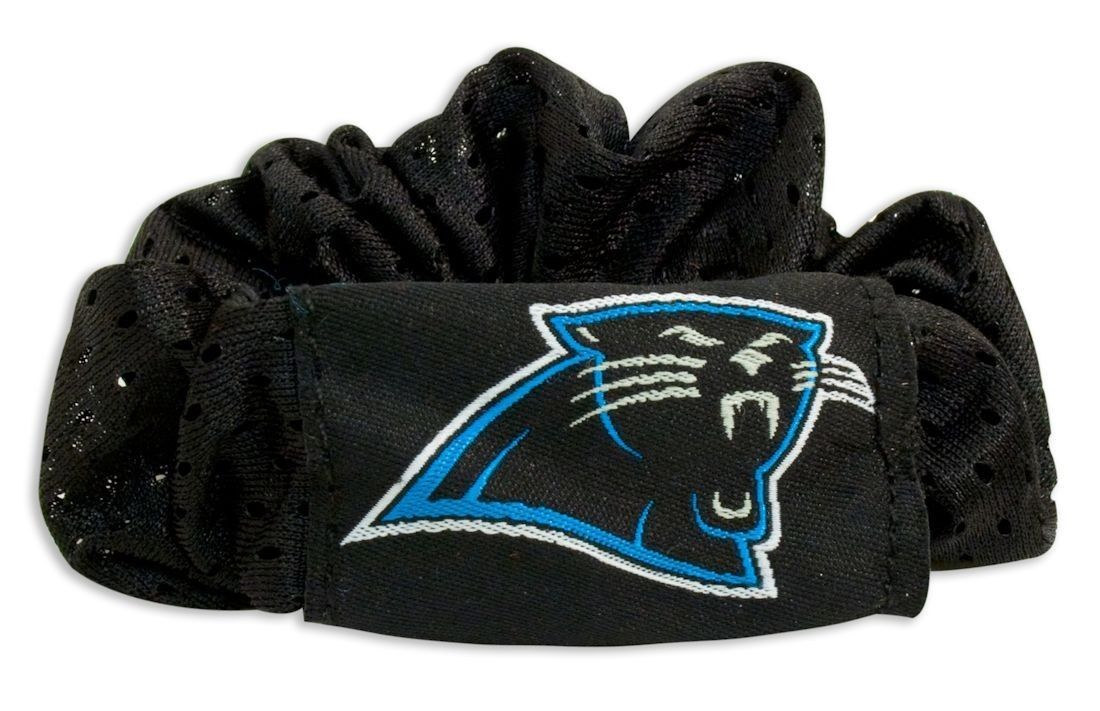 CAROLINA PANTHERS SCRUNCHIE HAIR TWIST PONYTAIL HOLDER TEAM LOGO NFL FOOTBALL