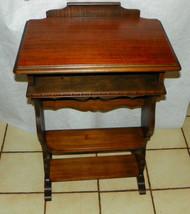 Walnut Entry Table / Bookshelf Table  (RP-T324) - $299.00