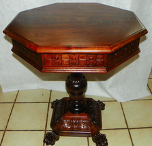 Mahogany Carved Center Table / Parlor Table by Thomas Day - $1,999.00
