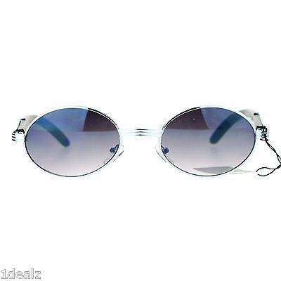 6392ef489c21 New Oval Wood Buffs Unisex Sunglasses Oval UV400 Lenses and Silver frame  Baller