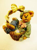 Boyds Bears Bearstone Rembrandt Eggsellent eggs Easter Basket  Fugurine NIB - $29.70