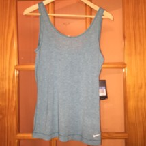 Nwt Nike Pro Sky Blue Dri Fit Tank Top Sz M Style 611829 Retails For $35 - $19.75