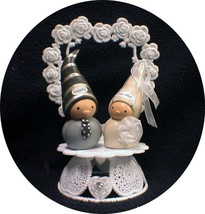 Adorable Bea's Wees Happily Ever After Wedding Cake topper top Fairytail Funny - $39.50