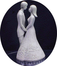 """Wedding Cake Topper 25 Anniversary Figurine """"Love is one heart shared by Two"""" - $33.66"""