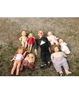 Lot of Vintage antique dolls ventriloquist - $125.00