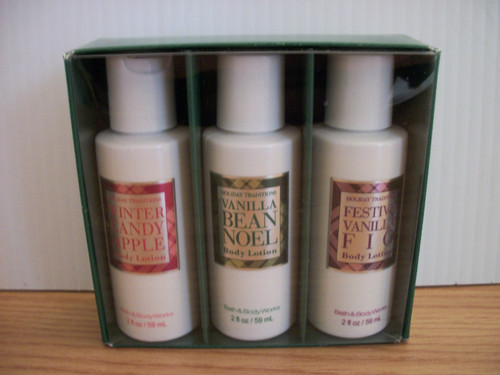 Holiday Traditions 3 Piece Set Lotion Set By Bath & Body Works Christmas Scents
