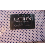 Ralph Lauren Light Navy Polka Dots on White Sheet Set Full - $79.00