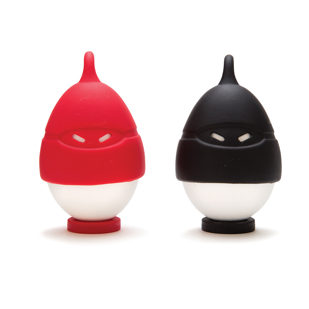 Kids funky egg ninjas set 2 easy safe boiling cooking for Funky household gifts