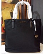 NWT Michael Kors Morgan Large Tote Nylon Black ... - $160.55