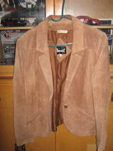 Avanti Pigskin Suede Leather Jacket Tan Size 12 Vintage - $20.00